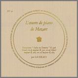 モーツァルト:ピアノ作品全集 第3集 33rpm LP