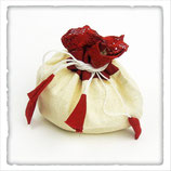 Baumwoll-Beutel weiss-rot / Sac du coton blanc-rouge