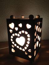 Nachttischlampe Herzchen unbehandelt