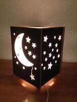 Nachttischlampe Mond und Sterne unbehandelt