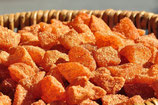 getrocknete Apfelstücke