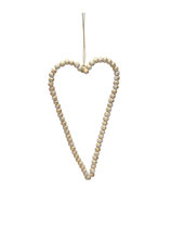 Krasilnikoff - Beaded Heart, Antique Gold