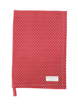 Krasilnikoff - Tea Towel, Micro Dots Red