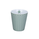 Krasilnikoff - Happy Mug, Micro Dots Dusty Green