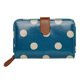 CK - Button Spot Folded Zip Wallet with Leather