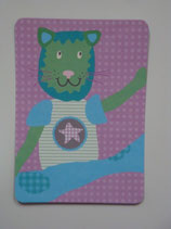 Postkarte Ellybis - Tiger