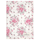 GreenGate - Tea towel Flora, white