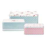 GreenGate - Tin boxes rectangular Abelone
