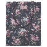 GreenGate - Bag Cotton Maude, dark grey