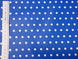 Laminated Cotton - Dots Royalblau/ Weiss