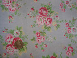 Cath Kidston Cotton Duck, Spray Flower blue