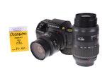 Pentax SF7 analog mit 28-80mm und 70-200mm