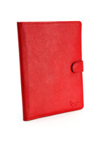 petit amour Mutterpasshülle / U-hefthülle aus Leder in Rot