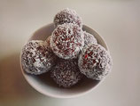 10x Raw cacao and raspberry bliss balls 25g each GF/DF