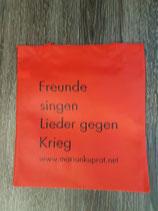 """Beutel """"Lieder gegen Krieg"""""""