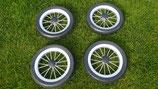 4 Räder mit 250mm Durchmesser
