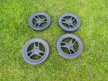 4 Räder mit 200mm Durchmesser