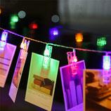 Leuchtklammern Lichterkette