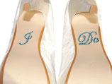 Schuhsticker I Do Blau