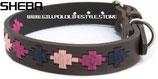 Sheba Dog Collar - Pampa Cross Berry/Navy/Pink
