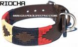 Riocha Dog Collar - Navy/Cream/Red