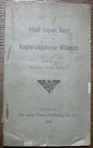 What Japan Says about the Anglo-Japanese Alliance