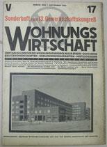 WOHNUNGSWIRTSCHAFT 1928年9月1日