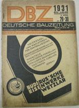 DBZ  DEUTSCHE  BAUZEITUNG 1931年4月8日