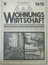 WOHNUNGSWIRTSCHAFT 1928年8月1日