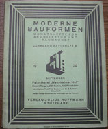 MODERNE BAUFORMEN  September 1929