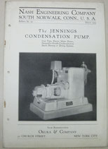 The JENNINGS CONDENSATION PUMP.  NASH ENGINEERING COMPANY No.99. 1929年3月