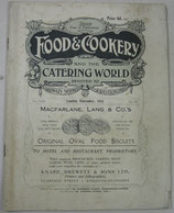 FOOD & COOKERY  and the CATERING WORLD  1925年11月