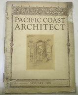 PACIFIC COAST ARCHITECT  1929年1月