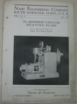The JENNINGS VACUUM HEATING PUMP. NASH ENGINEERING COMPANY  No.87.1928年7月
