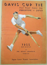 DAVIS  CUP  TIE    Final Round Eastern Zone   Philippine v.s Japan 1955