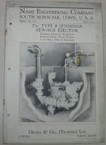 The TYPE B JENNINGS SEWAGE EJECTOR.  NASH ENGINEERING COMPANY  No.103. 1929年4月
