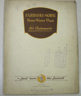 FAIRBANKS-MORSE  Home Water Plant  1924
