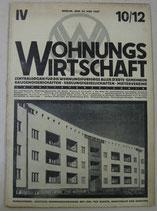 WOHNUNGSWIRTSCHAFT  1927年5月24日