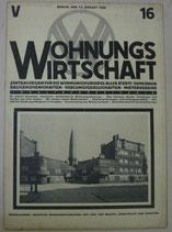 WOHNUNGSWIRTSCHAFT 1928年8月15日