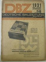 DBZ  DEUTSCHE  BAUZEITUNG 1931年9月30日