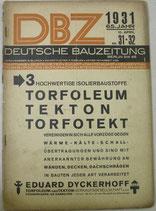 DBZ  DEUTSCHE  BAUZEITUNG 1931年4月16日
