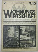WOHNUNGSWIRTSCHAFT 1928年5月15日