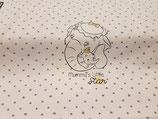 10 cm Jersey Disney Lizenzstoff Dumbo rosé Raport