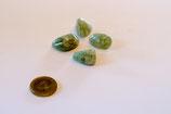 Trommelstein Amethyst grün (Prasolith, Grünquarz)