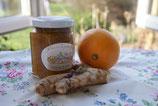 Orangenzauber mit Ingwer und Malvenblüten