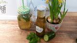 Gurken-Sirup mit Minze und Basilikum