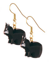 Ohrhänger »Katze schwarz« - Dregeno