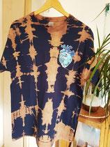 Shirt Ocean Heart blau-beige