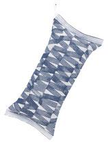 Saunakissen PÄRE 20x46 cm blau-weiß