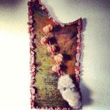 汚し革の壁花瓶